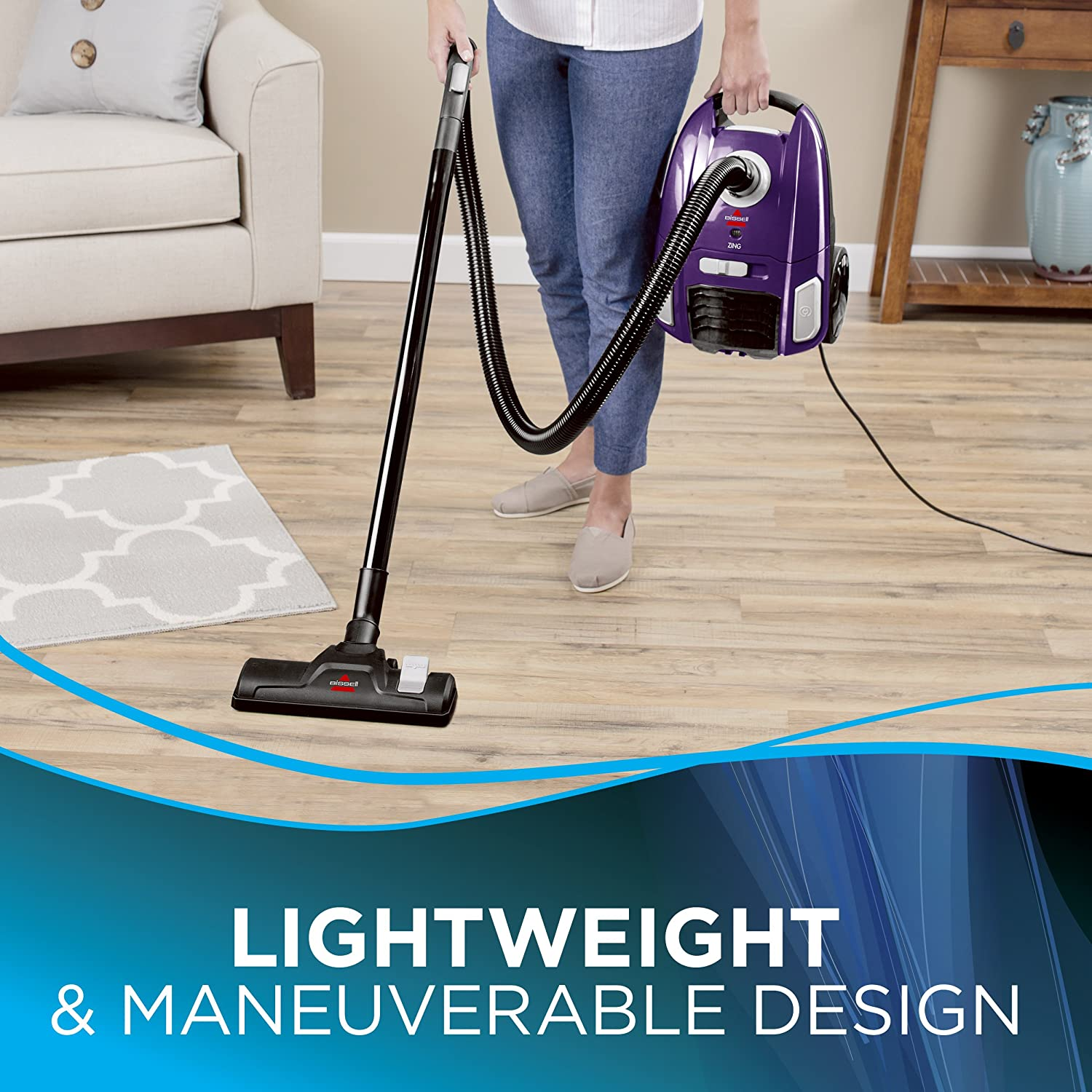 BISSELL Zing Lightweight Bagged Canister Vacuum