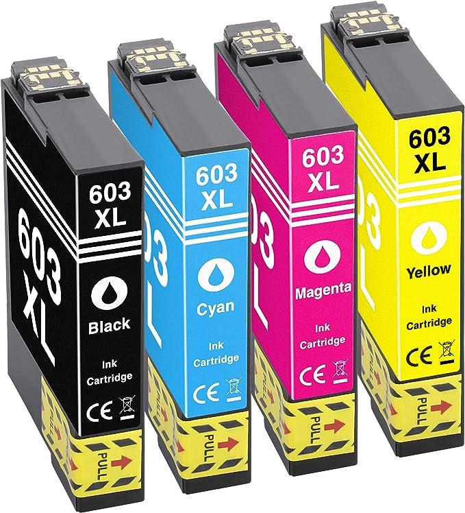 Gorilla Ink 4 Druckerpatronen Passend Zu Epson 603xl Geeignet Für Expression Home Xp2100 Xp2105 Xp3100 Xp3105 Xp4100 Xp4105 Workforce Wf2810 Dwf Wf2835 Dwf Wf2850 Dwf Wf2830 Dwf Bürobedarf Schreibwaren
