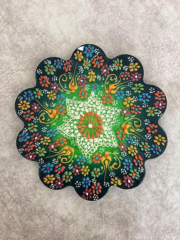 Pot Holder Home and K\u0131tchen Decor  Handmade Traditional Turkish Tile Trivet Ceramic Trivet Handpainted Trivet 7 \u201c Hot Pad