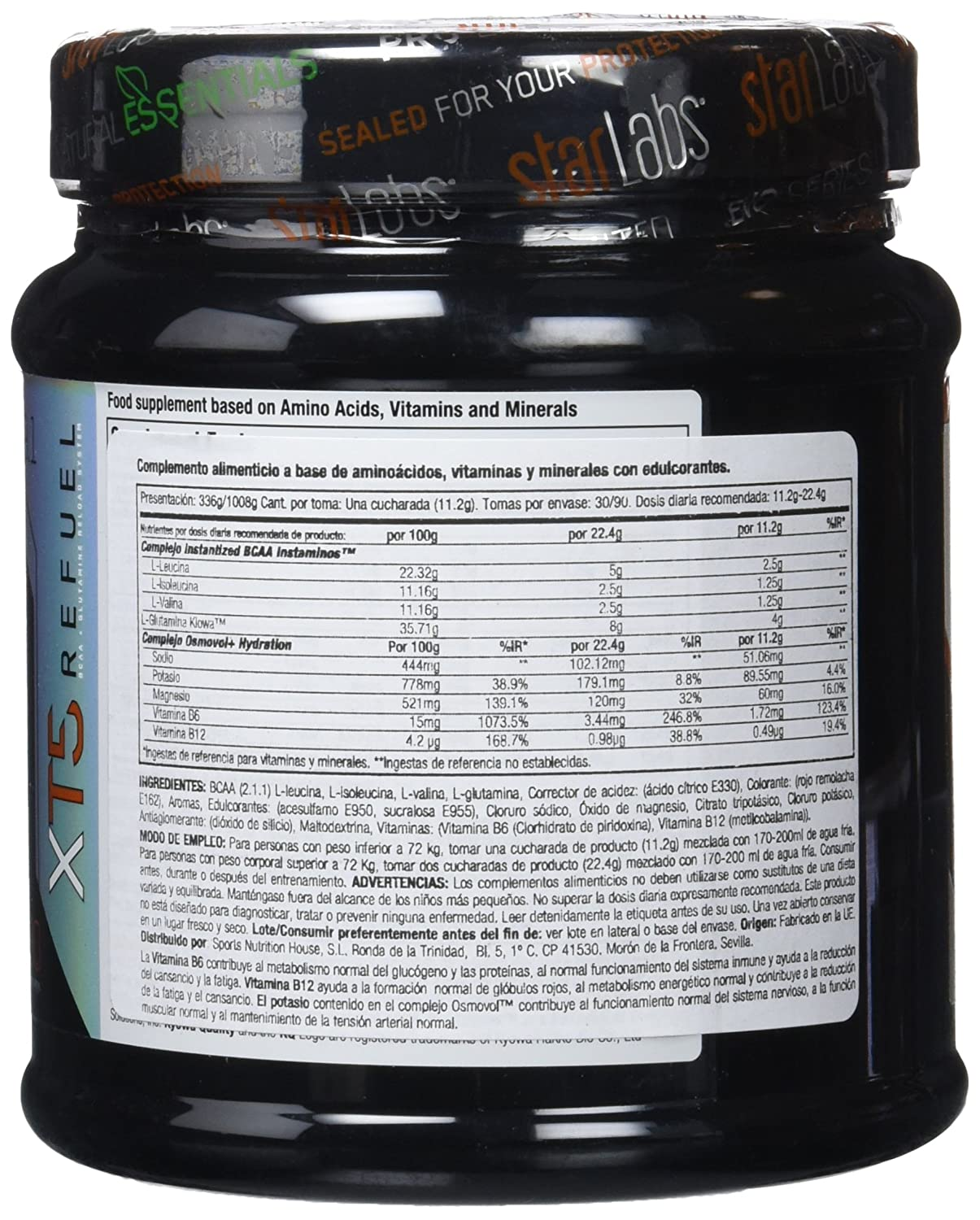 Starlabs Nutrition XT5 Refuel Crazy Punch - 336 gr: Amazon.es: Salud y cuidado personal
