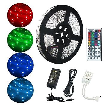 Tiras LED RGB 5050 10M, ALED LIGHT Tira Led Iluminación Multicolor con Control Remoto de