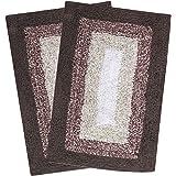 Saral Home Soft Cotton Anti Slip Bathmat (Set of 2 pc, 35x50 cm) (Brown)