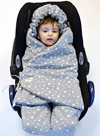JANABEBE Swaddling Wrap Car Seat And Pram Blanket For Winter Universal Infant