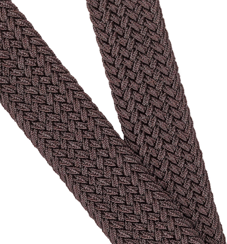 Mile High Life Cintur/ón el/ástico trenzado el/ástico con pasador ovalado Hebilla completa de cuero negro con hombre//mujer 7 tama/ños 12 colores extremo j/únior