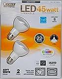 Feit Eelctric 1026816 8 Watt LED Dimmable 45-Watt Replacement Bulbs, Soft White, Pack of 2
