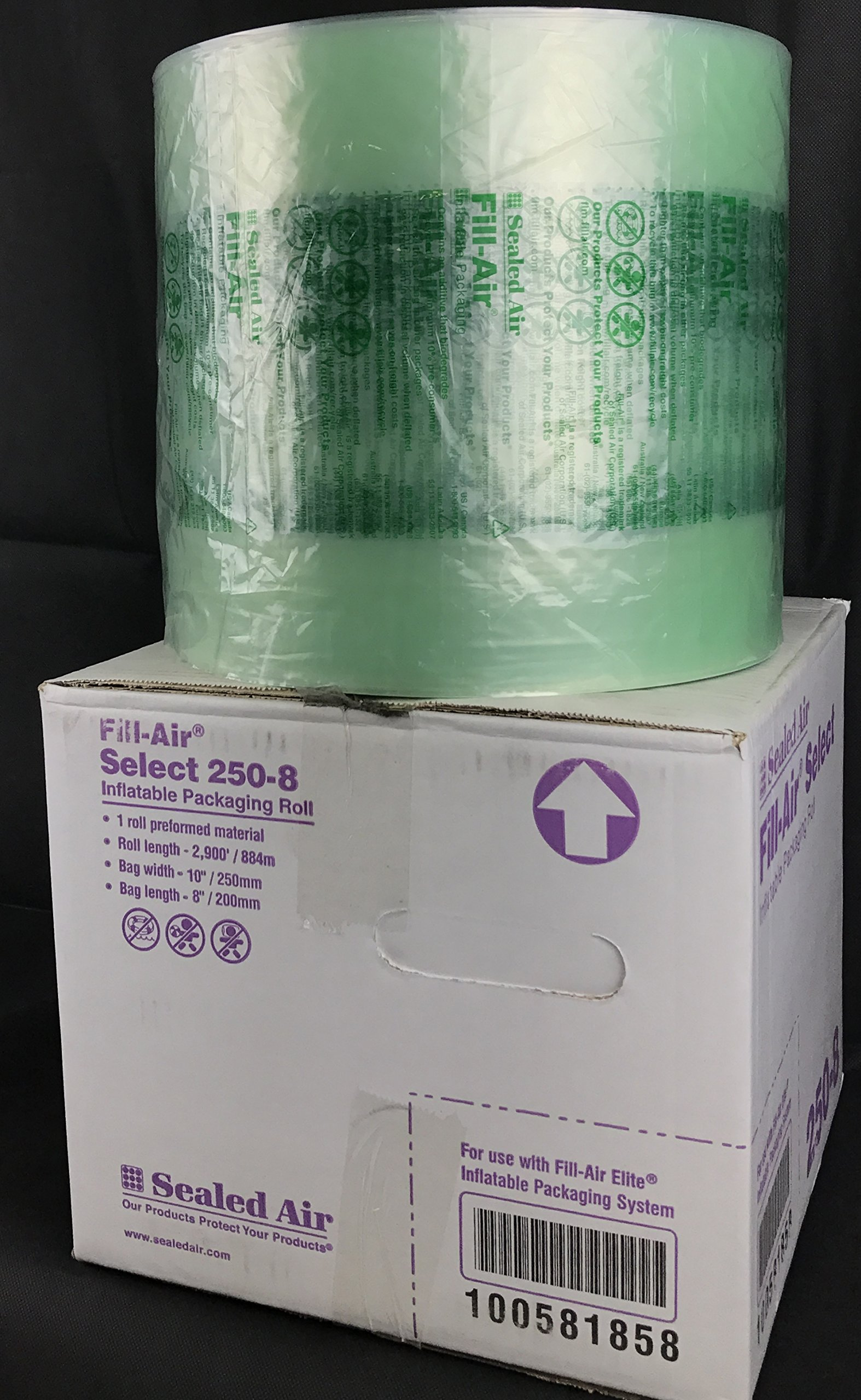 Sealed Air 250-8 Fill-Air Select 10'' x 8'' Inflatable Packaging Roll 2900' Bubble by Sealed Air
