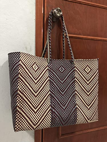más nuevo mejor calificado última venta compra venta Bolsa de plástico tejida a mano artesanal mexicana: Amazon ...