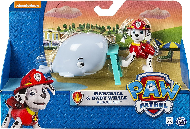 Bizak Patrulla Canina - Pack de acción Rescate con Amigos Marshall y Ballena 61926659: Amazon.es: Juguetes y juegos