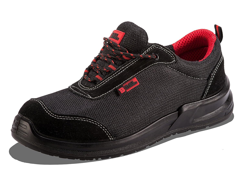 安全スニーカースチールつま先キャップ作業靴足首Trainersハイカーミッドソール保護ユニセックスメンズ軽量 B01IRAE74Y  ブラック 39 M EU / 6 D(M) US
