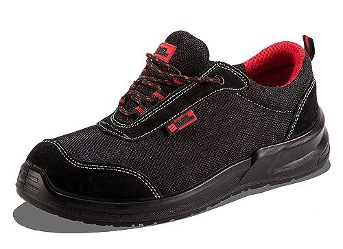 Botas para Hombre De Seguridad Puntera De Acero Zapatos De Trabajo Tobillo Suela De Protección Media