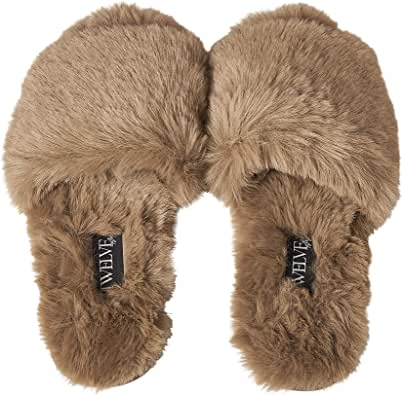 Twelve AM Co., So Good Fluffy Slippers (Size Down)