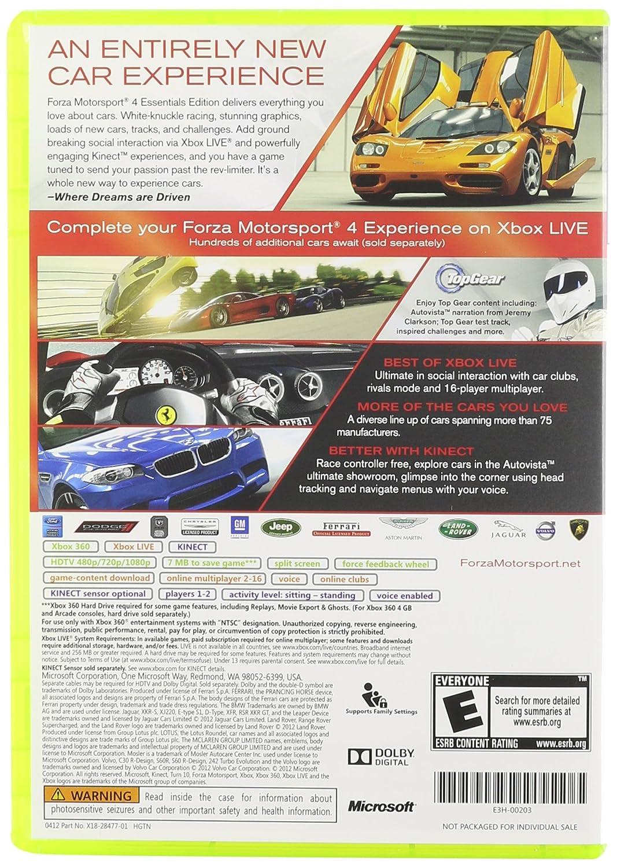 Amazon Forza Motorsport 4 Essentials Edition Video Games