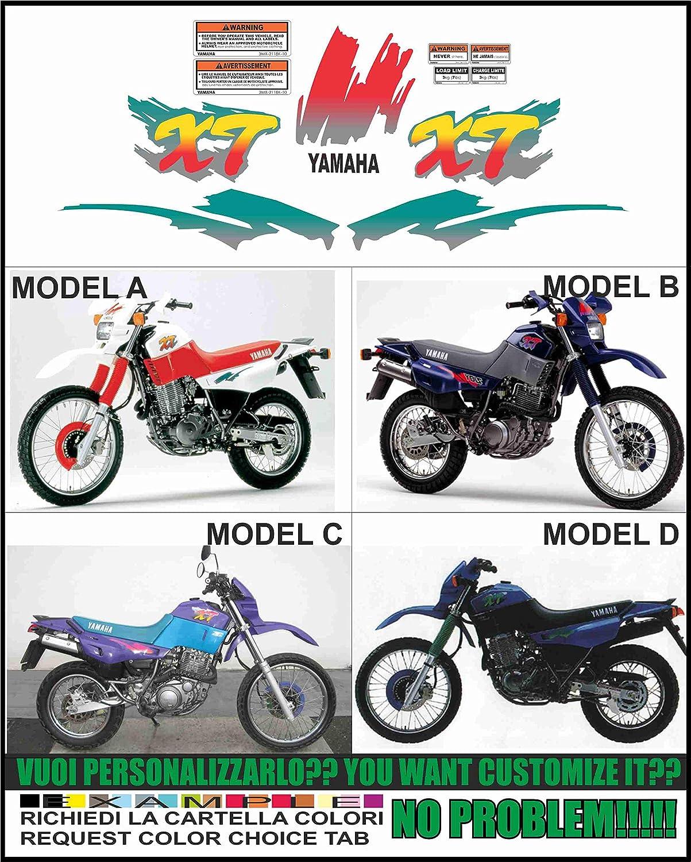 INDICARE IL MODELLO A o B o C o D Kit adesivi decal stikers yamaha XT 600 E K 1991 1992 3TB