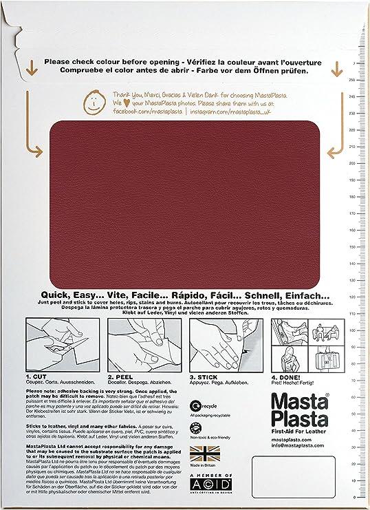 MastaPlasta - Parche Autoadhesivo para reparación de Cuero. XL: 28 ...