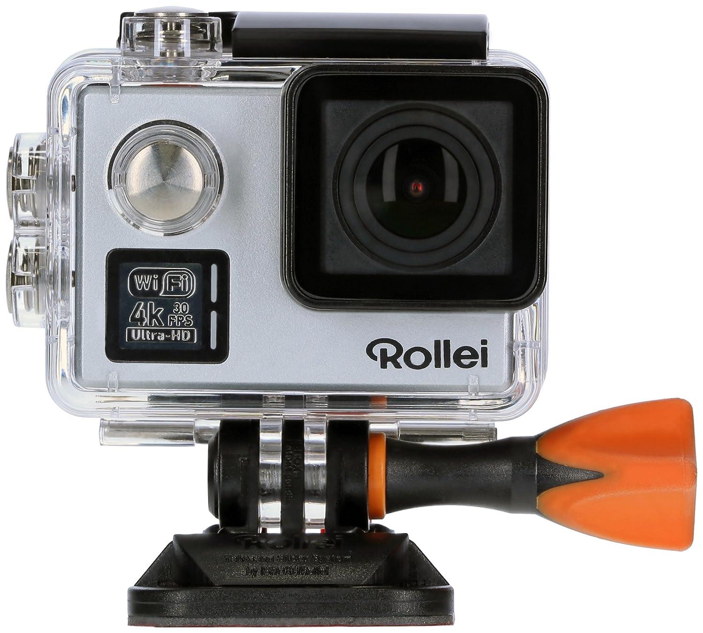 Rollei Actioncam 530 WiFi Action Cam (mit 4k Video Auflösung, Weitwinkelobjektiv, Bildstabilisierung, bis 40 m wasserfest, inkl. Unterwasserschutzgehäuse und Fernbedienung) schwarz 40312