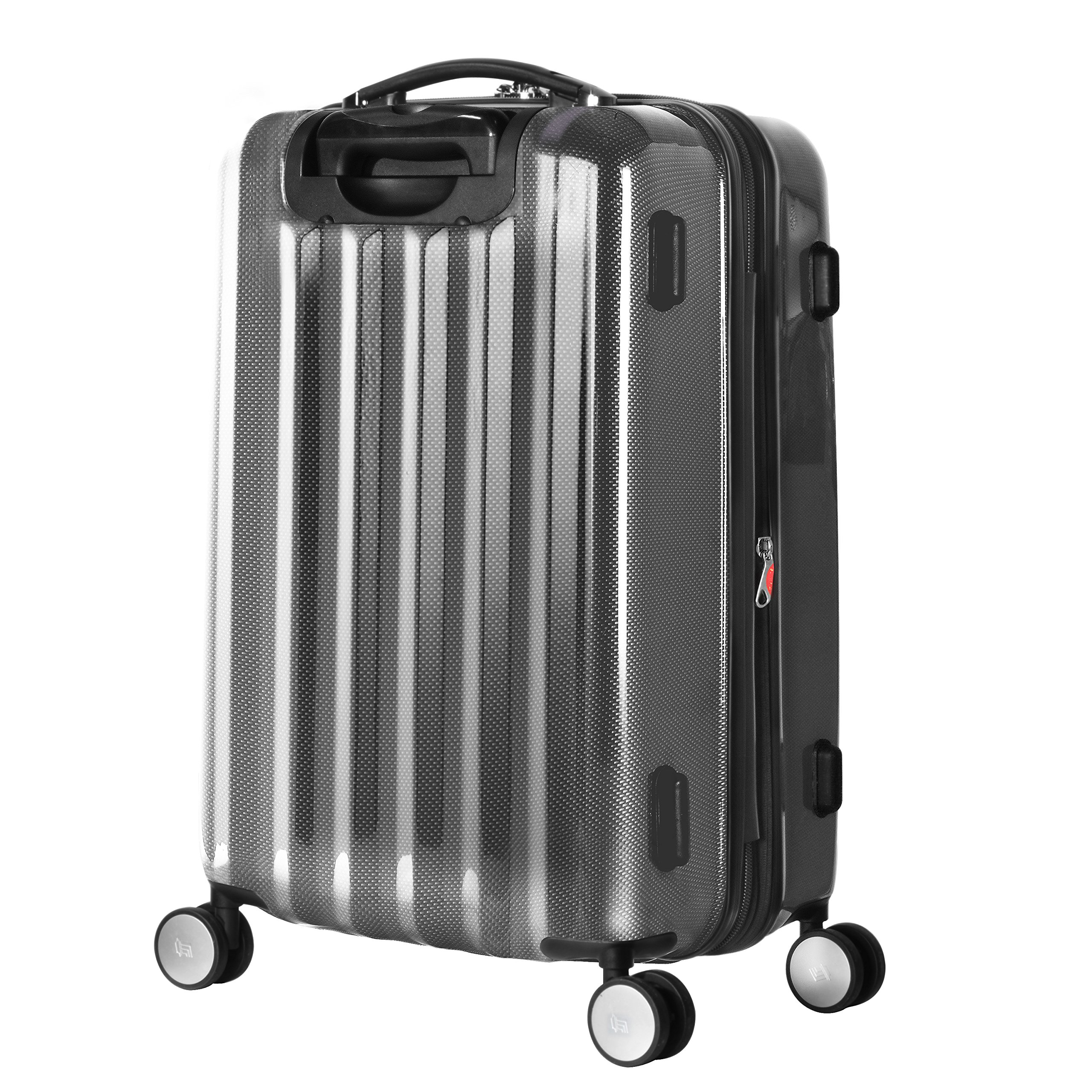Olympia Luggage Titan 21 Inch Expandable Carry-On Hardside Spinner, Black, One Size by Olympia (Image #6)