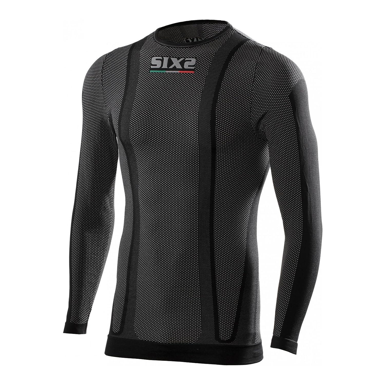 SIXS Carbon Rundhals Funktionsshirt - Motorrad Unterhemd