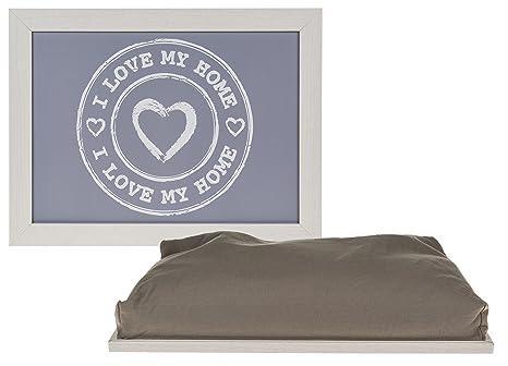 Bada Bing - Bandeja con Cojín, diseño I Love My Home con corazón