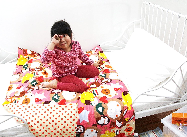 Cotton Flower Toddler Quilt (Quilt +Duvet Cover),Warmer,(Flower Song) Cotton Flower Design