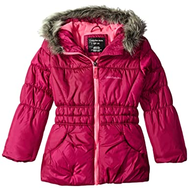 8219ae733436 Amazon.com  Calvin Klein Little Girls Glacial Puffer Jacket  Clothing