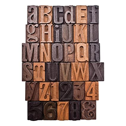 Amazon.com: Letterpress Print Blocks by Tim Holtz Idea-ology, 35 ...