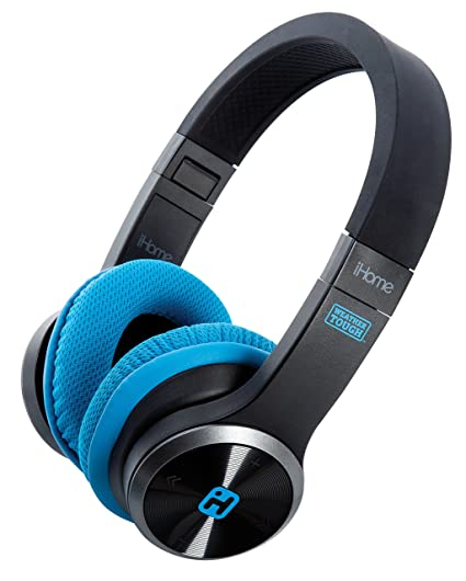 d41685ad57f Amazon.com: iHome iB88B Splash Proof Rugged Foldable Bluetooth Rechargeable  Headphones with Mic Remote Control and Travel Pouch: Electronics