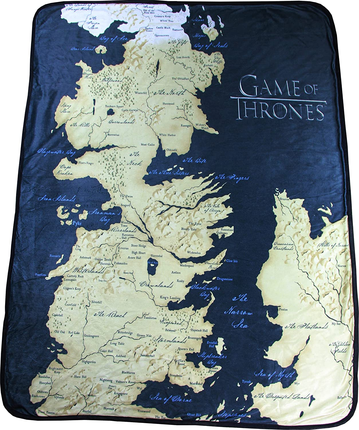 Game of Thrones 46 X 60 Map Fleece Throw Blanket by Rabbit Tanaka