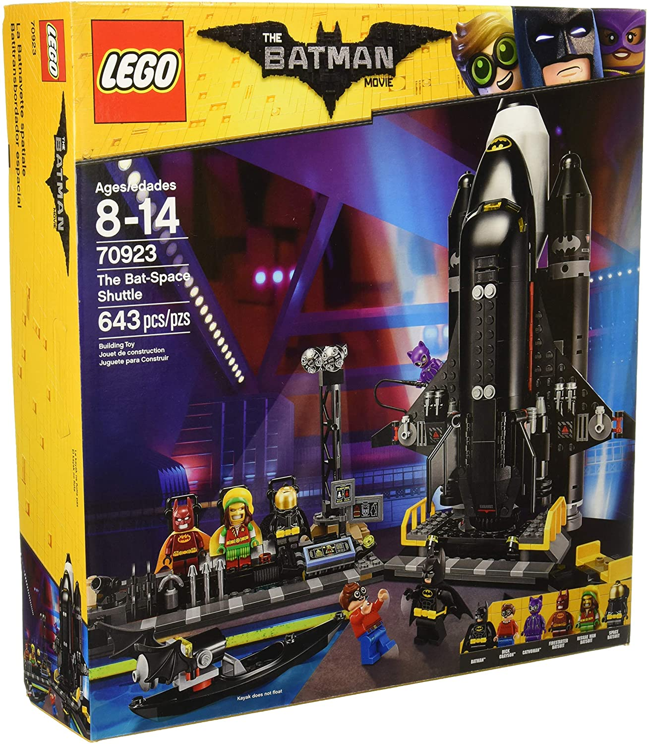 Amazon Com Lego Batman Movie Dc The Bat Space Shuttle 70923 Building Kit 643 Piece Toys Games