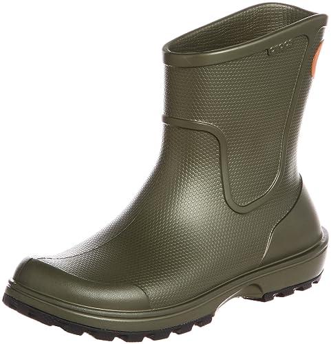 Crocs Wellie Rain Boot Men, Hombre Bota, Verde (Army Green), 39