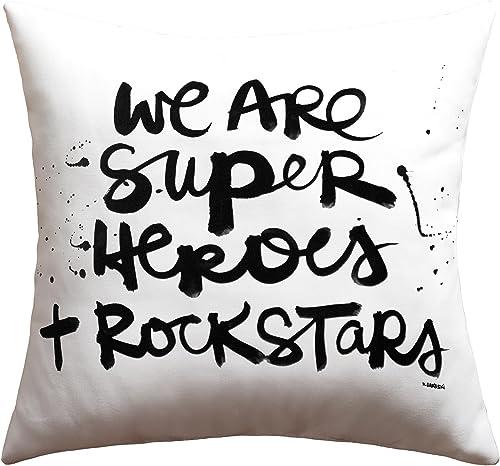 Deny Designs Kal Barteski Superheroes Outdoor Throw Pillow, 18 x 18
