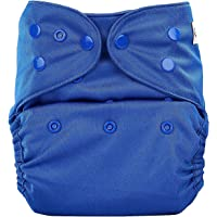 Bumberry Reusable Diaper Cover and 1 Natural Bamboo Cotton Insert (Deep Blue)