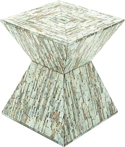 Deco 79 Wood Inlay Accent Table, 16 x 19