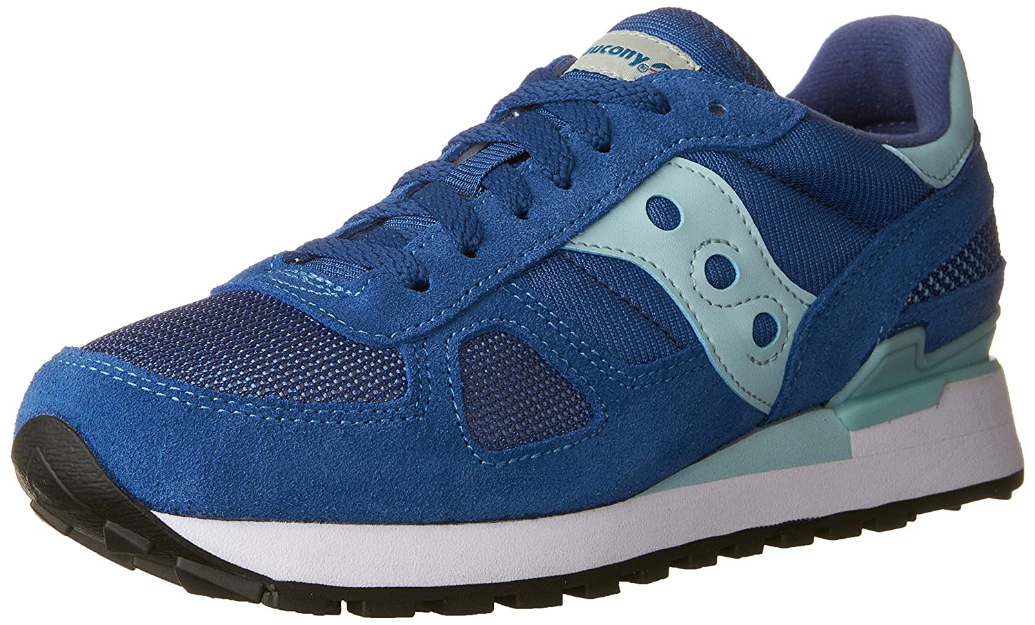 Saucony Originals Women's Shadow Original Fashion Sneaker B01H6P87LK 8.5 B(M) US|Blue | Aqua