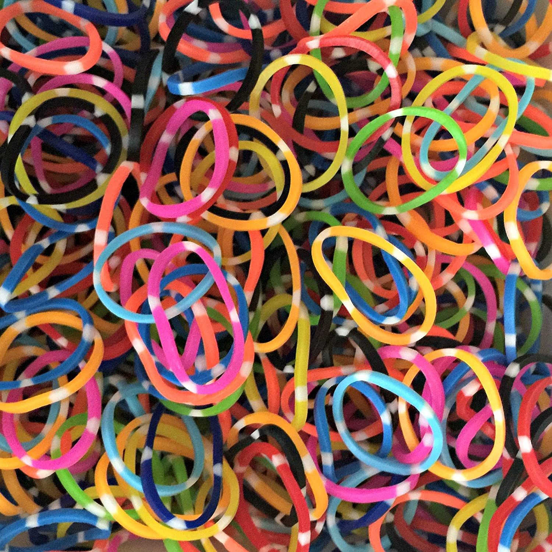 "24 /""S/""clips  Loom Pokla dot Mix Loom Bands 600 Pcs"