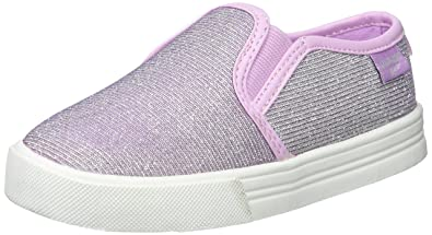 OshKosh B'Gosh Girls' Edie Casual Slip-on Sneaker, Purple Shine,