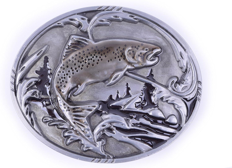 Salmon Fish Fishing Design Cowgboy Belt Buckles