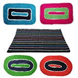 Online Quality Store Perfect Combo of 5 Door mats for different locations of a house (Multi, Cotton,16*24, Medium) Offer Price for 5 days