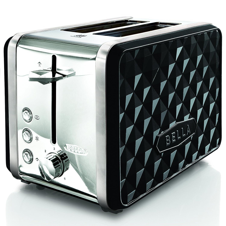 BELLA BLA14335 Diamonds 2-Slice Toaster, Black