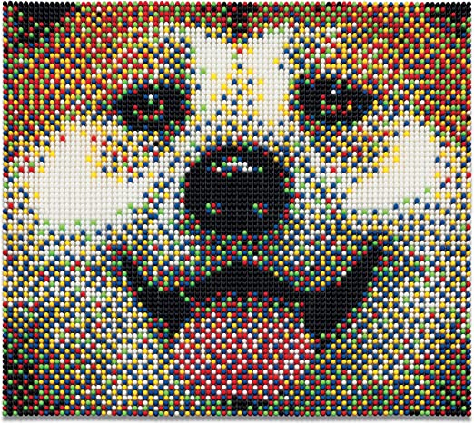 Create Picture Art with Colored Pegs and Patterns Quercetti/ /Pixel Art 9 Board Set