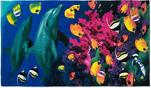 Exotic fish beach towel Bath Wholesale lot of 6 100/% cotton Free Shipping new