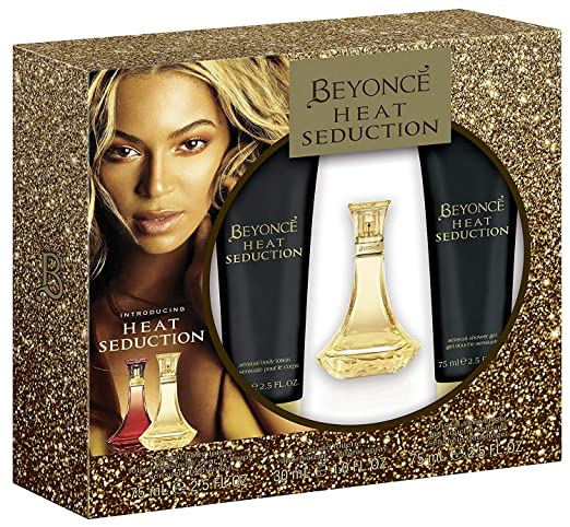 6b4028e21a5c9 Beyonce Heat Seduction Eau de Toilette Shower Gel Body Lotion   Amazon.co.uk  Beauty