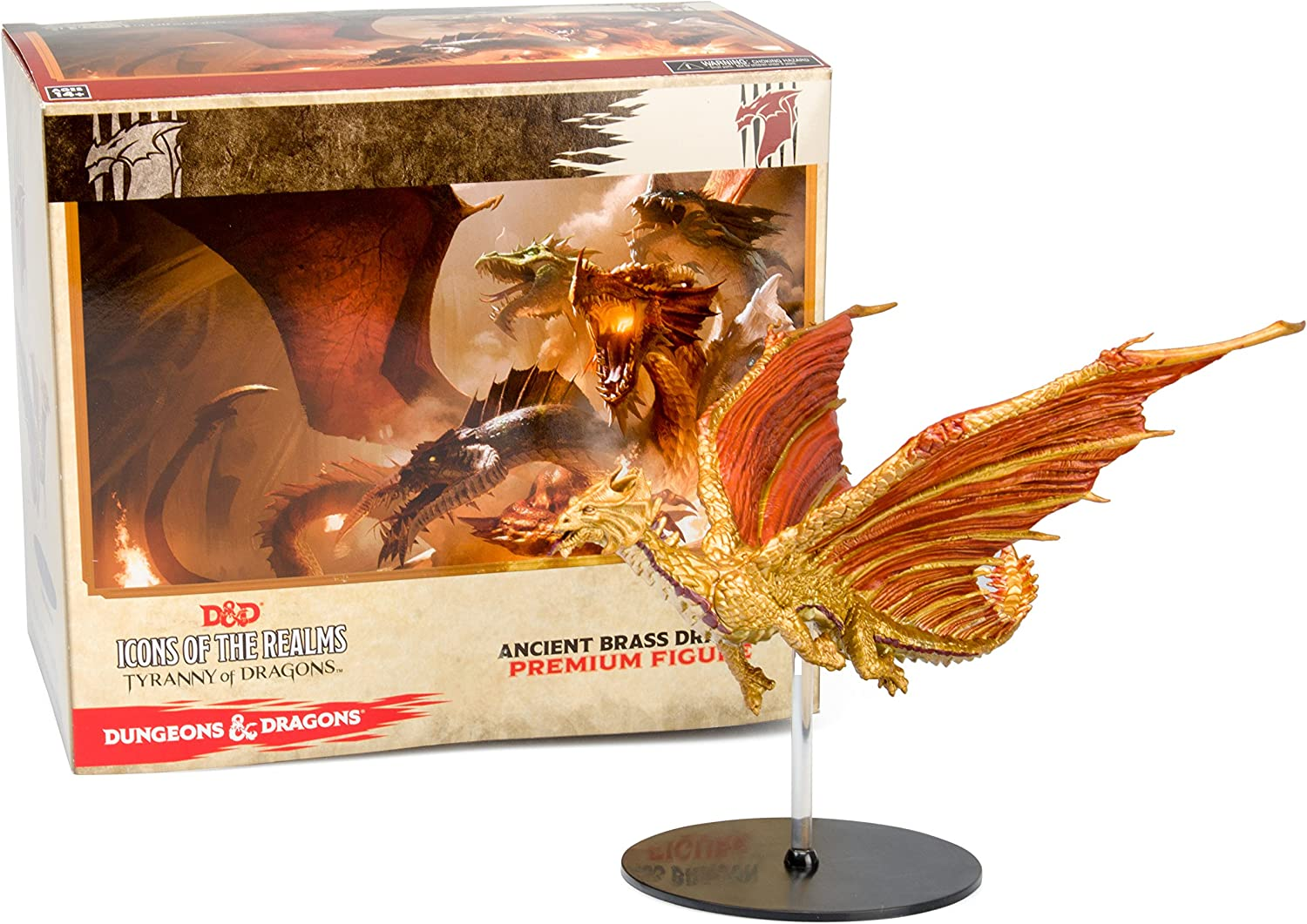 Dungeons & Dragons Miniature Figurines - Ancient Brass Dragon Figure - D&D Icons of the Realms: Tyranny of Dragons Promo: Amazon.es: Juguetes y juegos