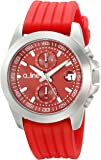 a_line Women's 80010-05-RD Aroha Chronograph Red Dial Red Silicone Watch
