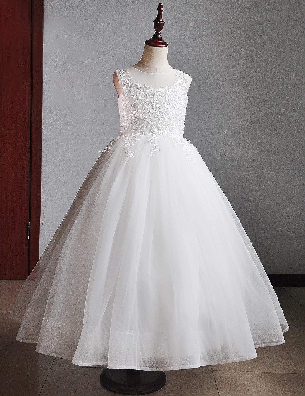 CQDY Ragazze del Fiore Vestino Ragazza vestita di Bianco Sposa Sposa Sposa Sposa Sposa Sposa Sposa Sposa Matrimonio