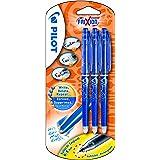 Pilot FriXion Point Lot de 3 stylos rollers à encre gel effaçable (Bleu)