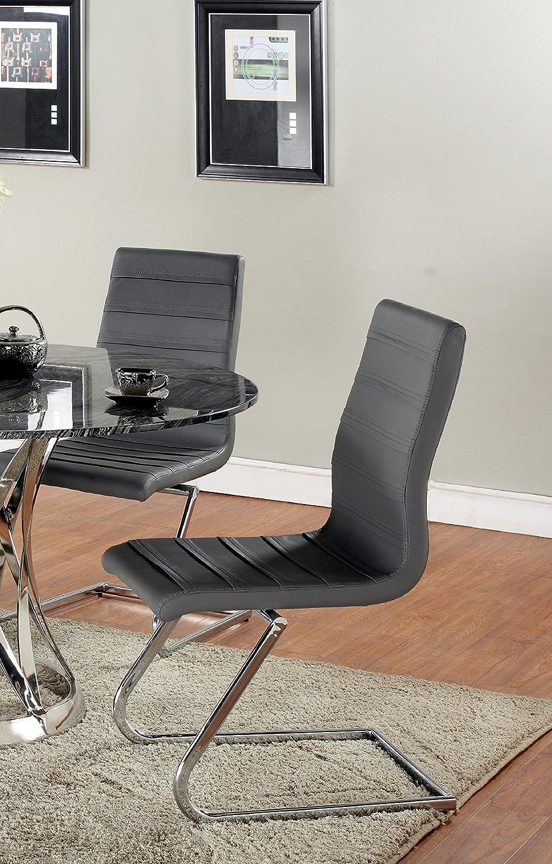 Milan Jaida High Back Brewer Style Side Chair Grey Set of 2