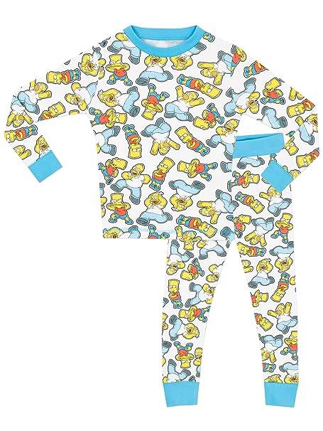 Simpsons - Pijama para Niños - Simpsons - Ajuste Ceñido - 5 - 6 Años