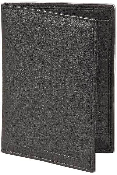 Rimbaldi-étui en cuir pour cartes d'identité et les pièces d'identité en cuir de veau noir naturel WCnaKG3