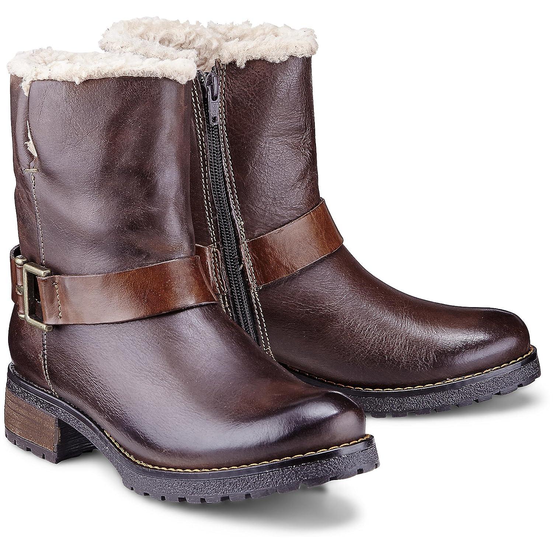 Cox Damen Damen Winter Boots aus Leder, Stiefeletten in