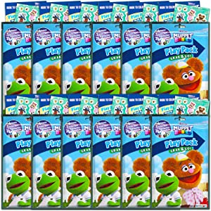 Muppet Babies Party Favors Pack ~ Bundle of 12 Muppet Babies Play Packs Filled with Stickers, Coloring Books, and Crayons (Muppet Babies Party Supplies)